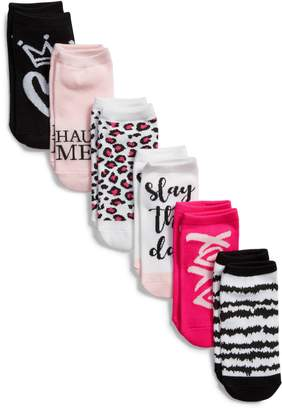 Sof Sole Fashion Pun Assorted 6-Pack No-Show Socks