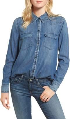 AG Jeans Deanna Studded Denim Shirt