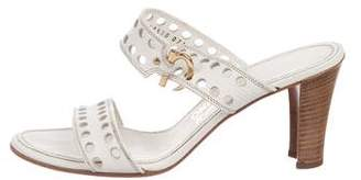Salvatore Ferragamo Alexandra Perforated Slide Sandals