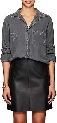 NSF Women's Axel Distressed Chambray Shirt