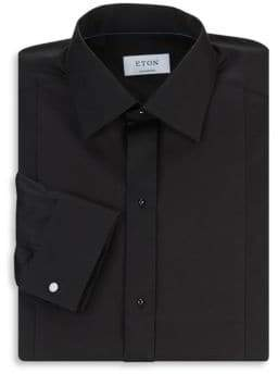 Eton Contemporary-Fit Diamond Pique Dress Shirt