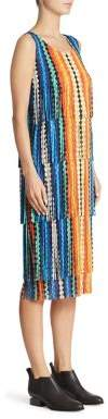 Pleats Please Issey Miyake Tiered Striped Dress