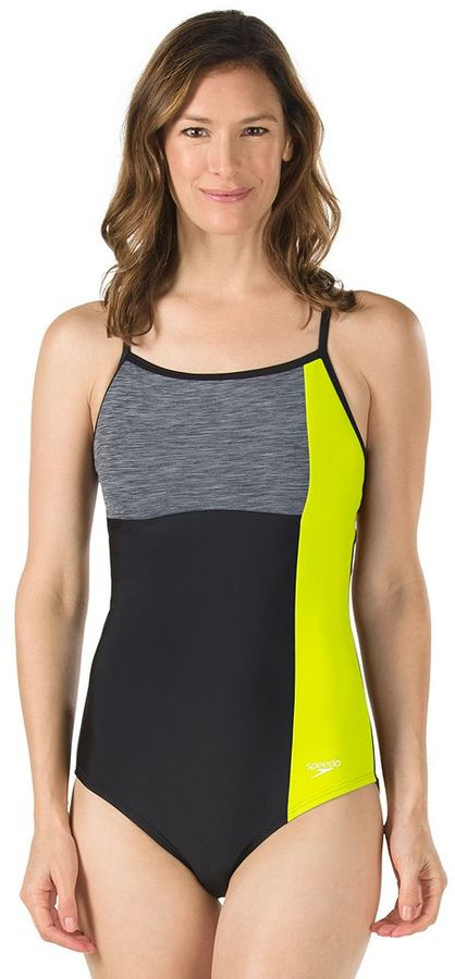 SpeedoWomen's Speedo Colorblock One-Piece Swimsuit
