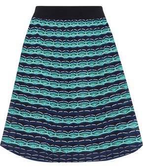 M Missoni Flared Intarsia-Knit Mini Skirt
