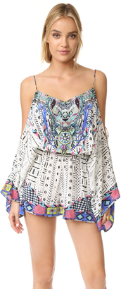 Camilla Drop Shoulder Romper $500 thestylecure.com