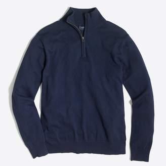 Slim-fit harbor cotton half-zip sweater
