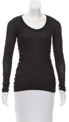 Calvin Klein Collection Metallic Long Sleeve Top