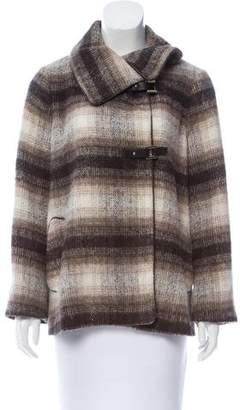 CH Carolina Herrera Wool Plaid Jacket