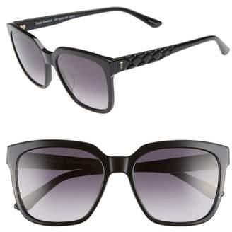 Juicy Couture Core 55mm Square Sunglasses