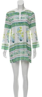 Calypso Floral Print Shift Dress White Floral Print Shift Dress