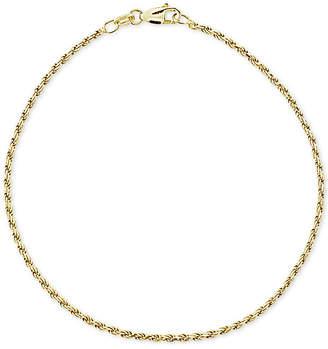 Giani Bernini Twist Rope Ankle Bracelet in 18k Gold-Plated Sterling Silver