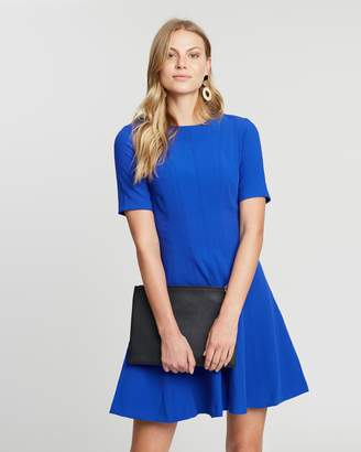 Banana Republic Panelled Fit-And-Flare Dress