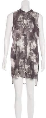 Eileen Fisher Printed Silk Button-Up Dress