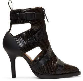 Chloé Burgundy Tracy Croc Strap Heels