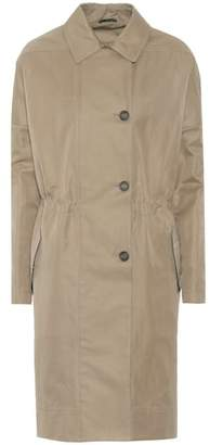Brunello Cucinelli Cotton-blend tench coat