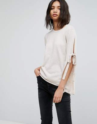 Vila Tie Sleeve Sweater