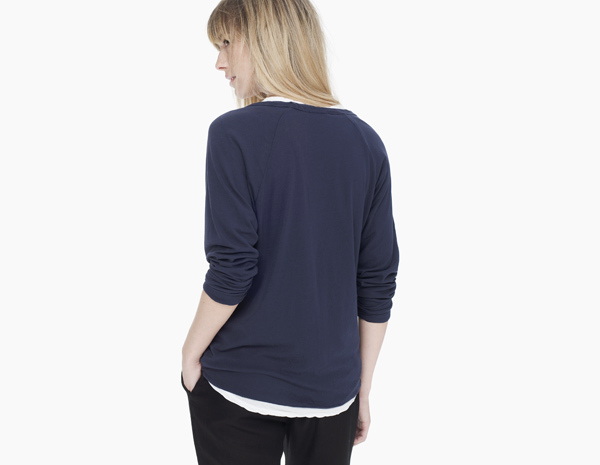 James Perse Double Layer Raglan Tee