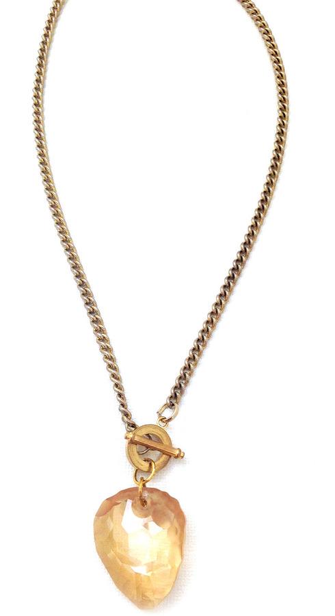 Swarovski Laura James Jewelry Champagne Necklace