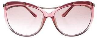 Salvatore Ferragamo Gradient Studded Sunglasses