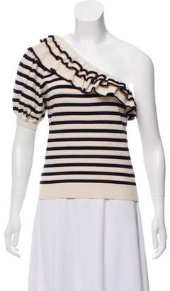 Ulla Johnson One Shoulder Knit Crop Top