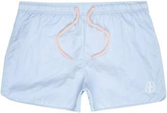 0bb5e158825 River Island Mens Big and Tall light Blue runner swim shorts