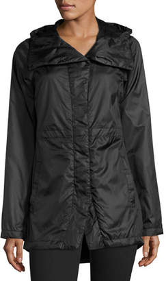 The North Face Rissy Pitaya Hooded Lightweight Parka, Black $130 thestylecure.com