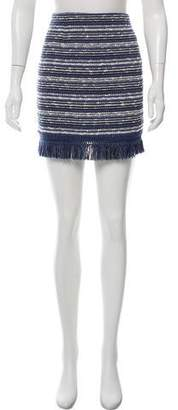 Timo Weiland Fringe-Trimmed Bouclé Skirt