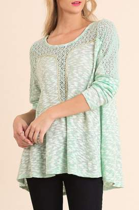 Umgee USA Marled Long Sleeve Top