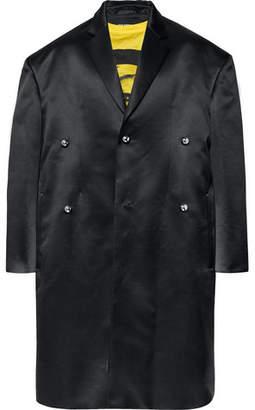 Raf Simons Oversized Wool and Silk-Blend Duchess Satin Coat - Men - Black
