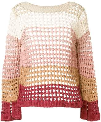 See by Chloe gradient open knit sweater