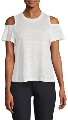 Rebecca Taylor Cold-Shoulder Jersey T-Shirt