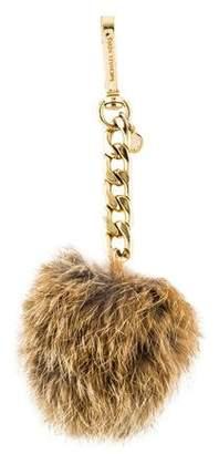 Michael Kors Fur Pom-Pom Keychain