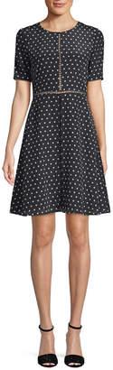 The Kooples Polka Dot A-Line Dress