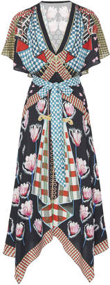 Temperley London Arabesque Printed Poplin Dress