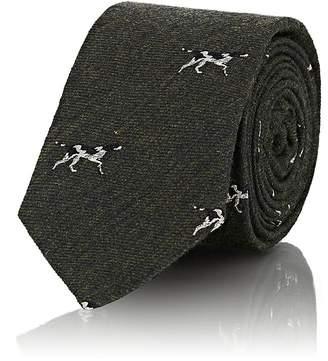 Alexander Olch Men's Hunting-Dog Wool Necktie