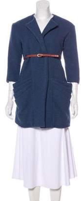 Loeffler Randall Wool-Blend Short Coat