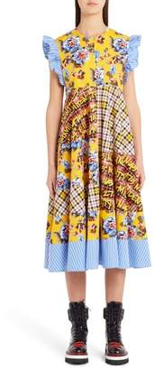 MSGM Patchwork Print Dress