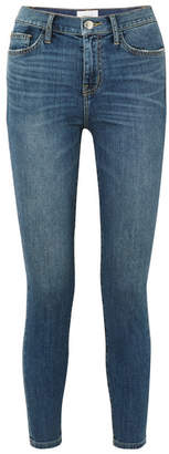 Current/Elliott The High Waist Stiletto Cropped Skinny Jeans - Dark denim