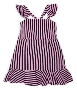 Milly Minis Striped Ruffle Detail Dress