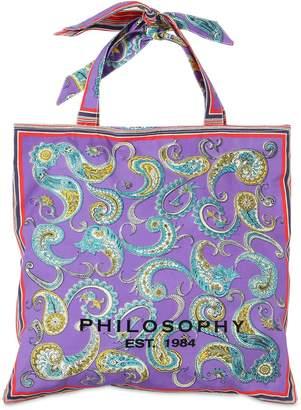 Philosophy di Lorenzo Serafini Printed Cotton Poplin Bag
