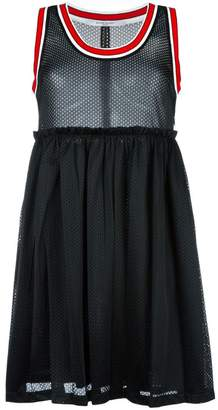 Givenchy striped trim mesh dress