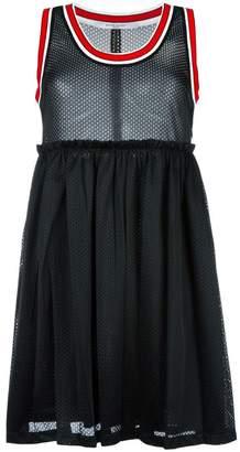 Givenchy striped trim mesh dress
