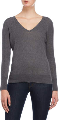 James Perse Grey V-Neck Sweater