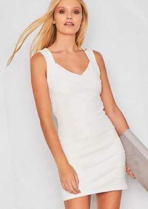 Missy Empire Missyempire Rosalia White Open Back Bodycon Dress ab3c1f121