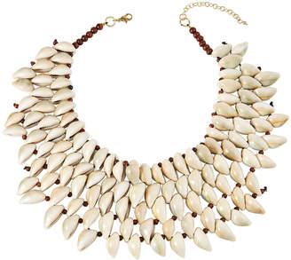 Natasha Accessories Limited Conch Shell Bib Necklace