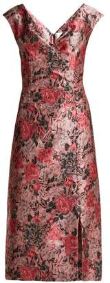Erdem Joyti Floral Jacquard Dress - Womens - Pink Multi