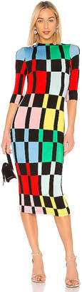 Alice + Olivia Delora Mock Neck Dress