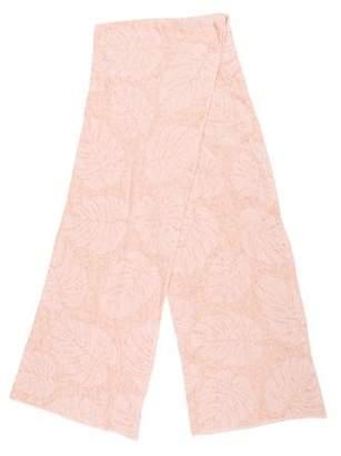 White + Warren Knit Pattern Scarf