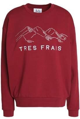 Zoe Karssen Embroidered Cotton-Blend Terry Sweatshirt