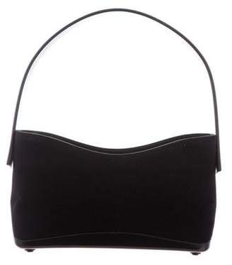 Salvatore Ferragamo Leather-Trimmed Suede Bag